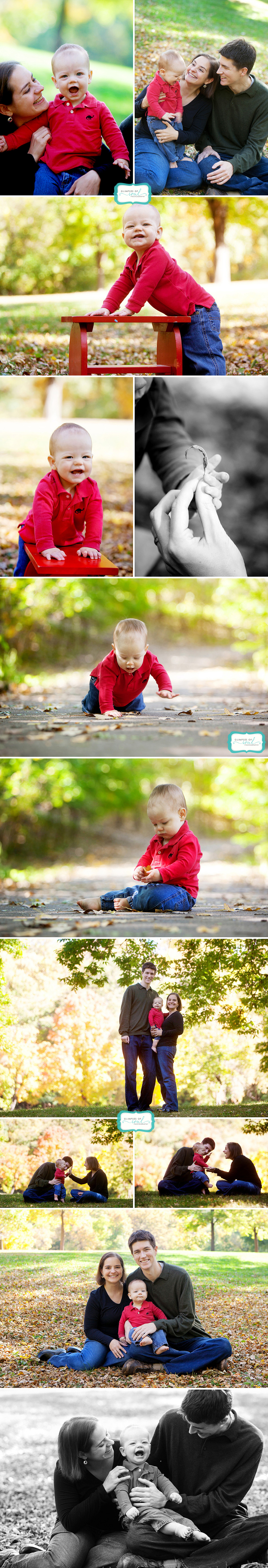 fall family photos with toddler