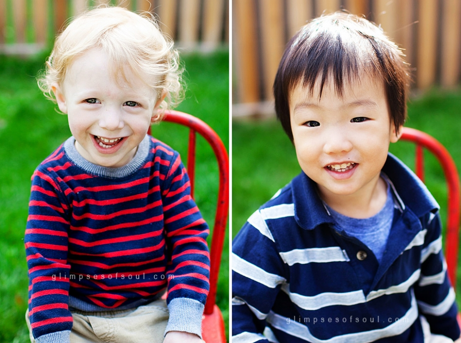 little boys at preschool