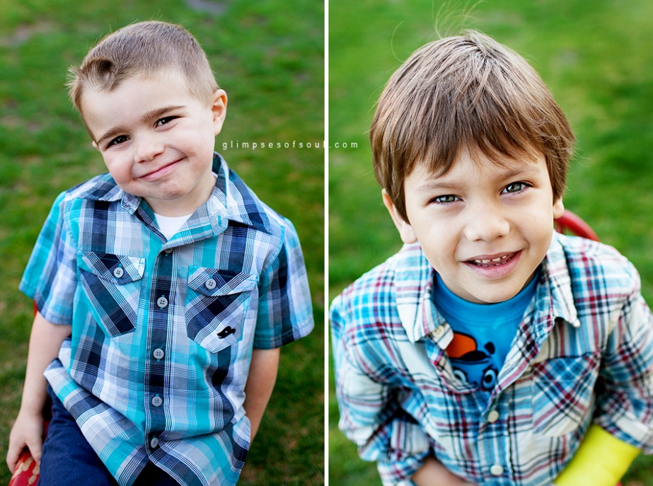 preschool photos of two boys