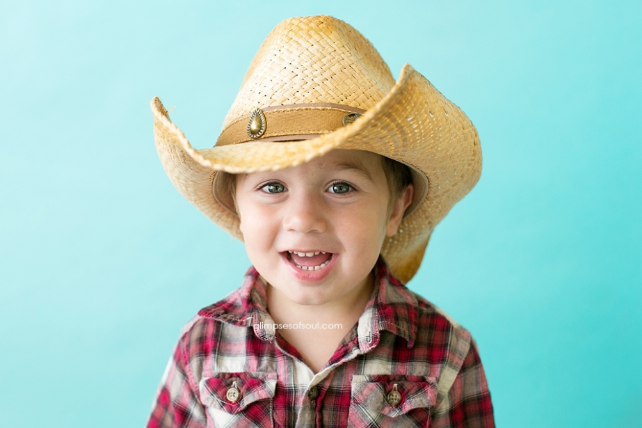 cute boy in cowboy hat