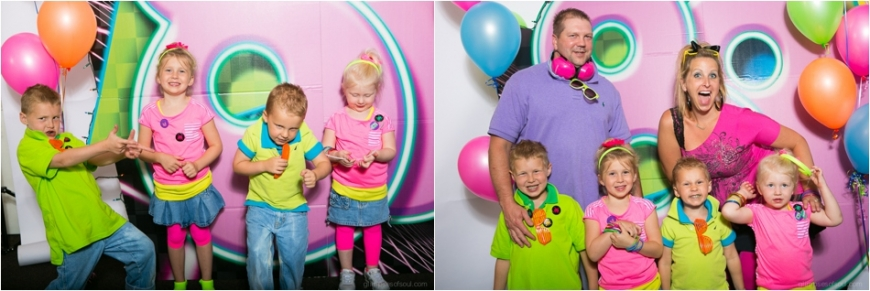 kids in an 80s photobooth