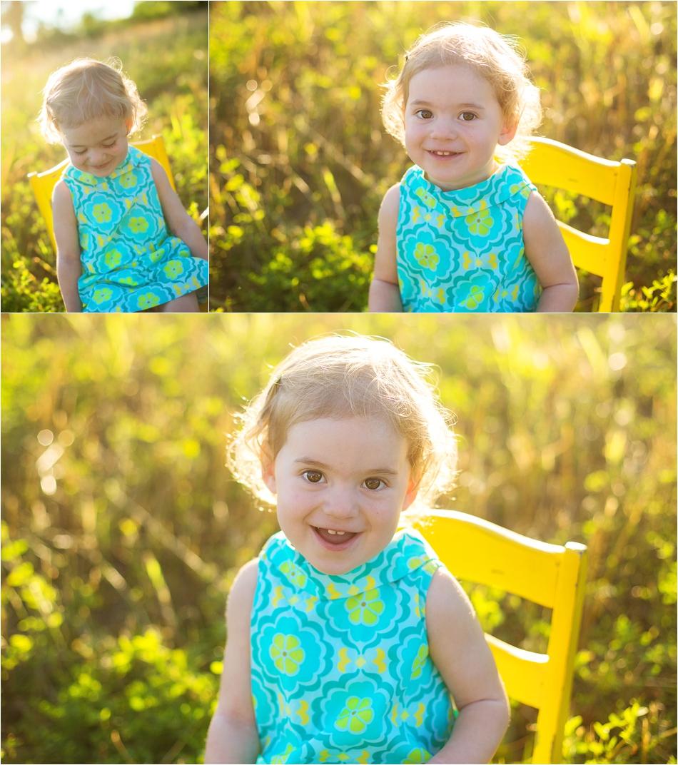 little girl in sunny field