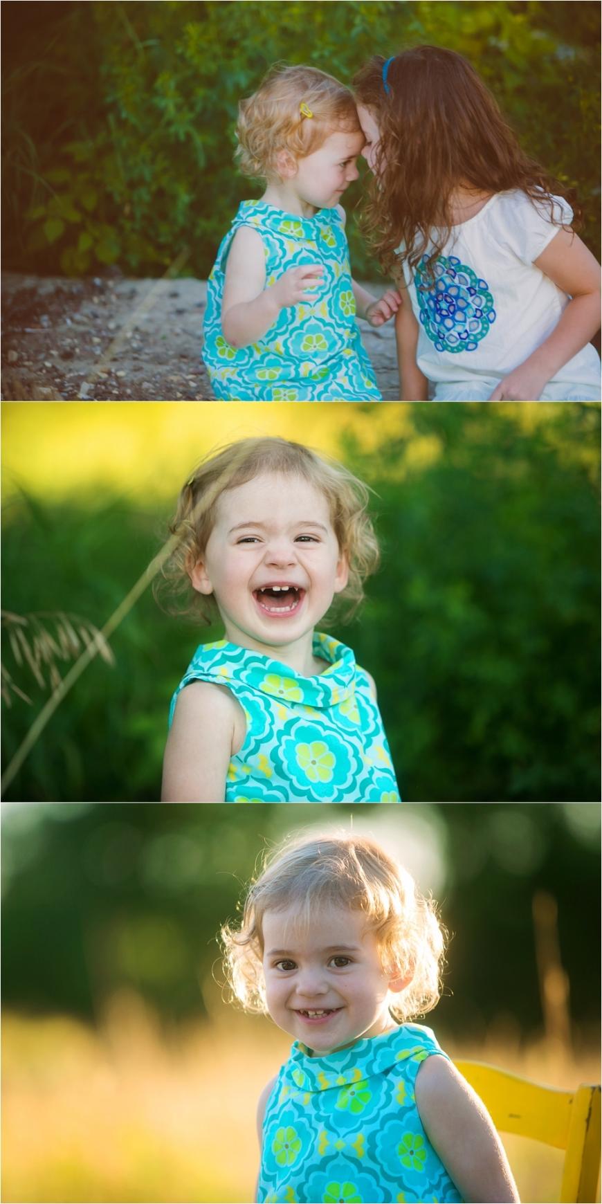happy blonde girl
