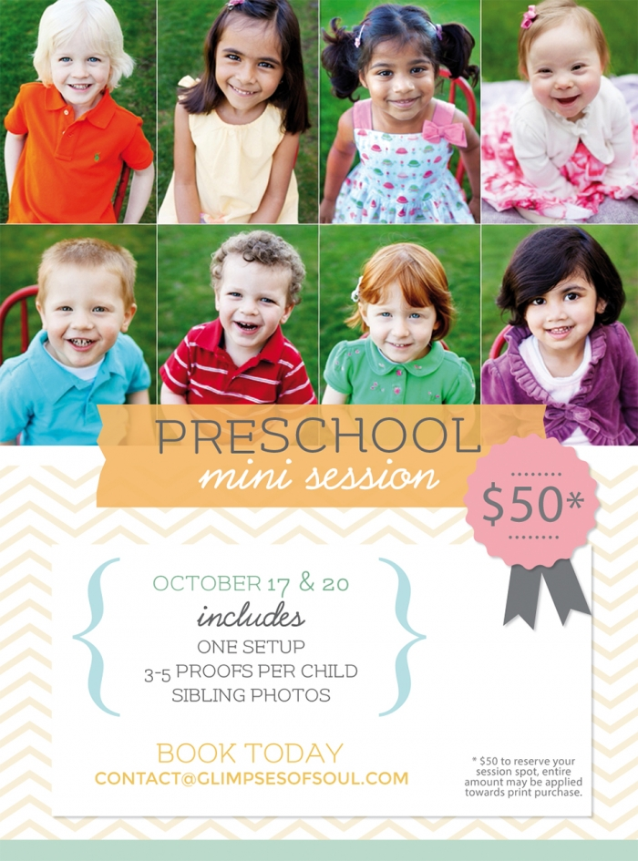 mini sessions for preschool photos