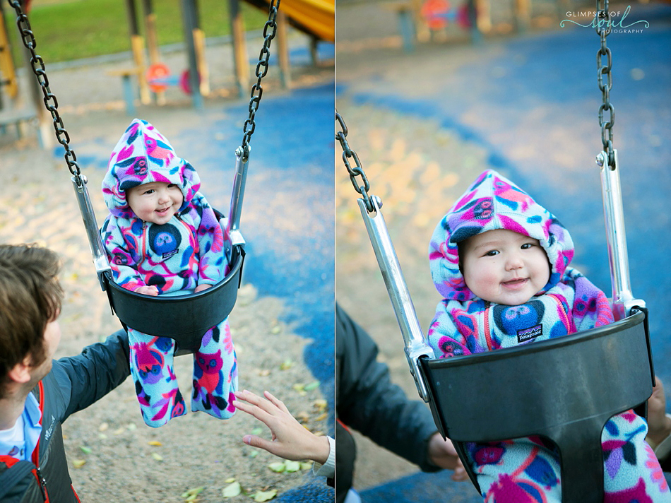 baby on swings