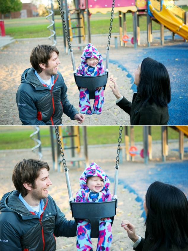baby on the swing at park