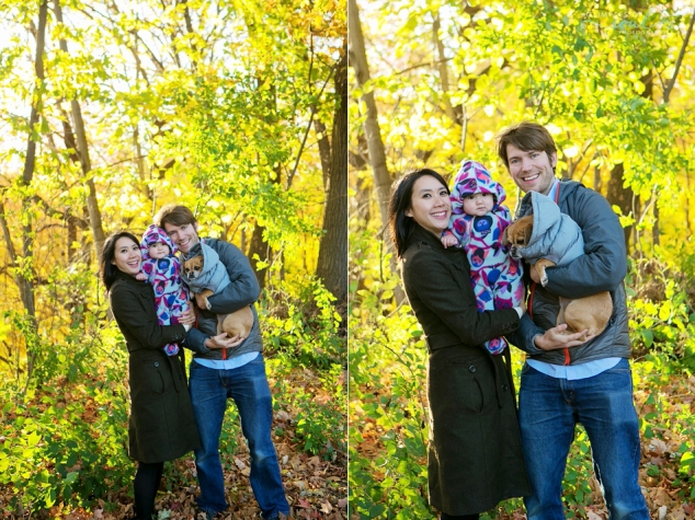 fall family portrait with dog