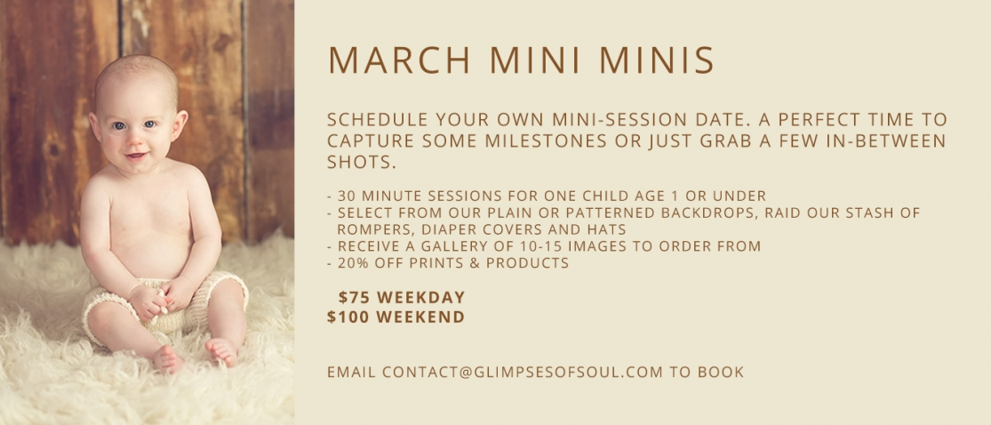 march mini sessions for babies