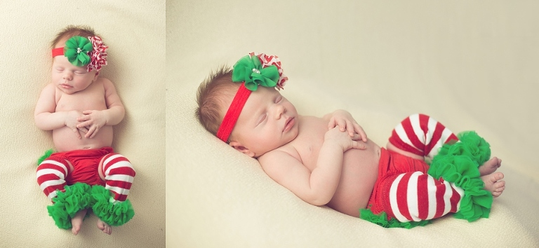 newborn in christmas outfit