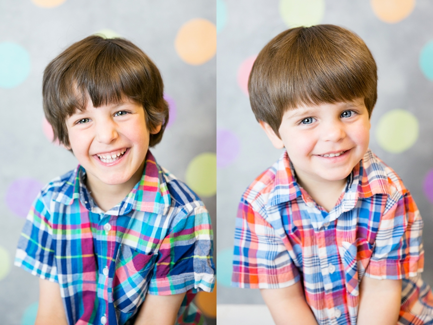 boys in plaid preschool photos