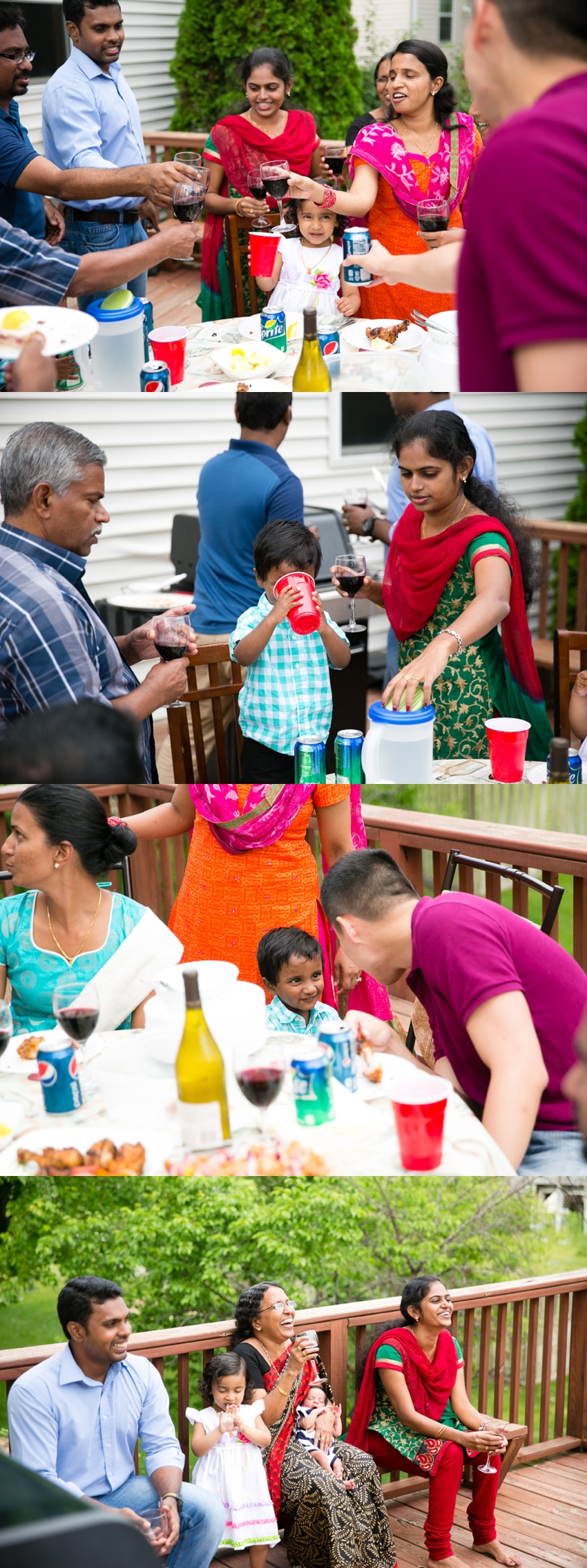 Indian family gathering in Minnesota