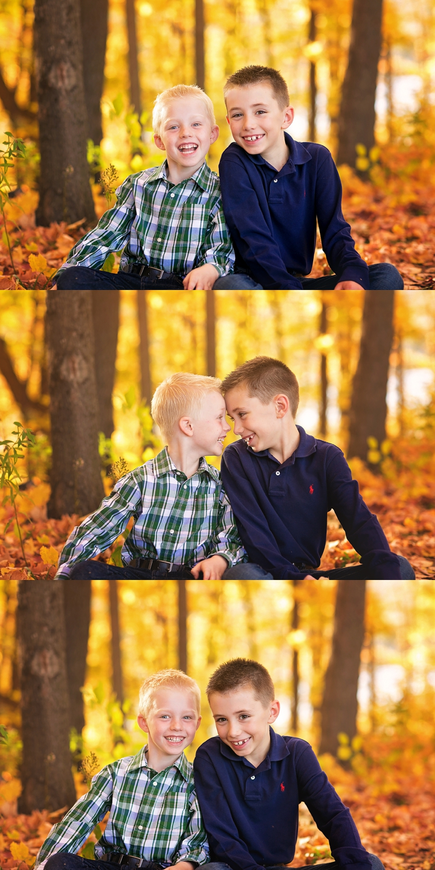 fall portraits of brothers