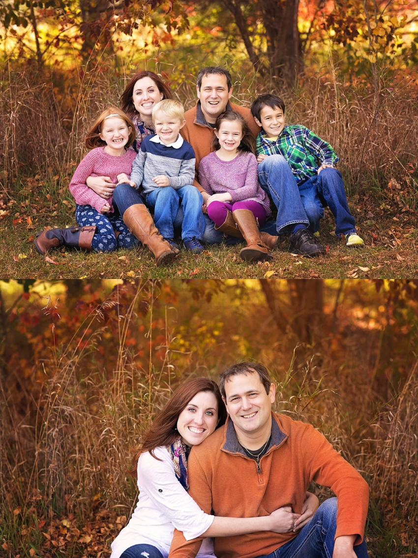 family photos in autumn
