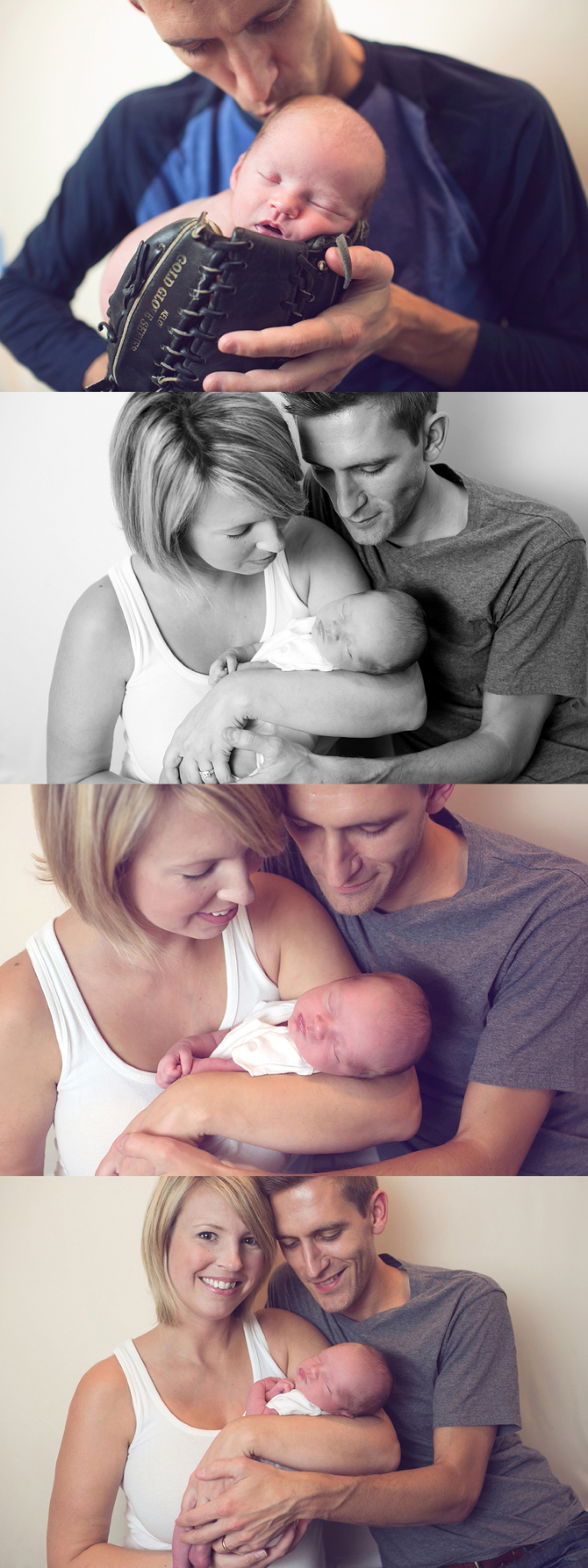 family portraits with newborn baby