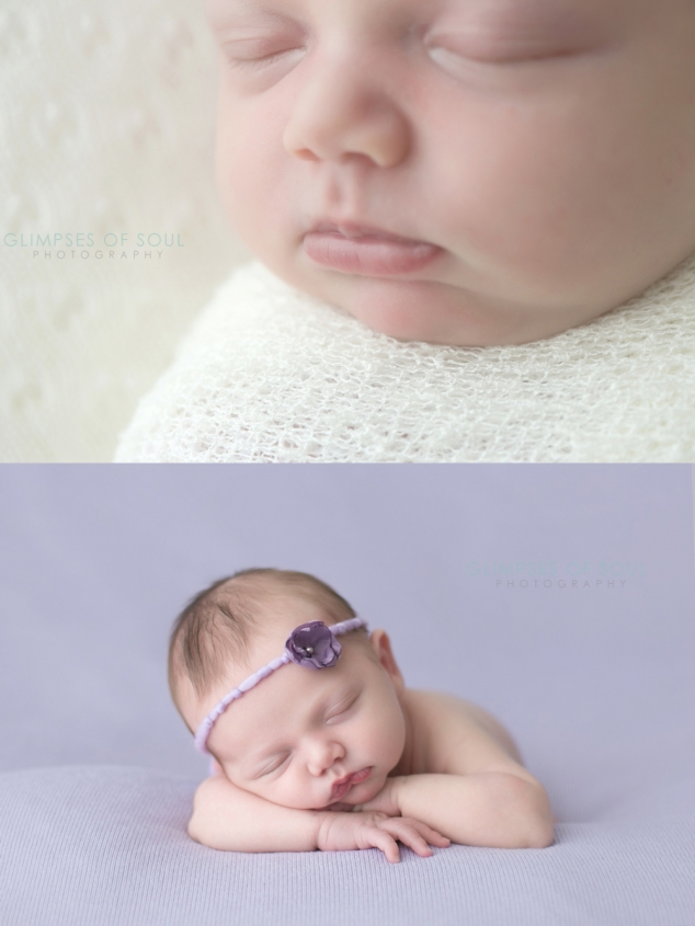 st paul newborn baby in purple
