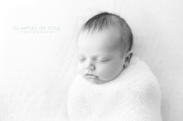 st paul newborn swaddled